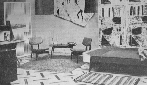 Interior scheme in the Warszawa Hotel, Moscow (Source: Architektura, August 1960).