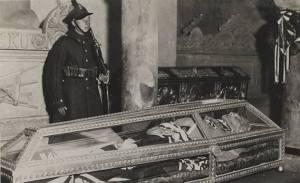Pilłsudski's coffin.
