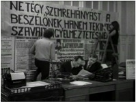 4. Scene from 'The Agitators' (Agitatorok), directed by Dezső Magyar, 1969-70.
