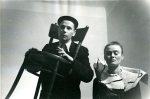 Miron Białoszewski and Ludmiła Murawska in Songs for Chair and Voice, Osobny Theatre, Warsaw 1958 (Photo: Marek Piasecki, 1957 in the collection of Muzeum Sztuki Nowoczesnej)