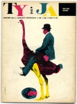 Cover of April 1963 issue of Ty i Ja magazine designed by Roman Cieślewicz