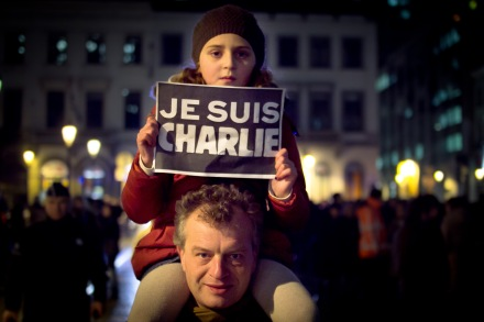 Demonstration in Paris, January 2015 photograph by Valentina Calà / flickr  (reproduced under a Creative Commons license).